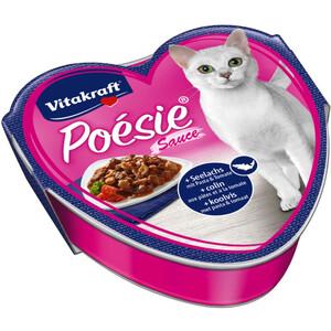 Vitakraft Katzenfutter Multipack Poésie mit Seelachs und Tomate, 15 x 85g