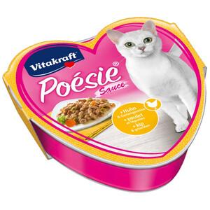 Vitakraft Katzenfutter Multipack Poésie Sauce mit Huhn und Gartengemüse, 15 x 85g
