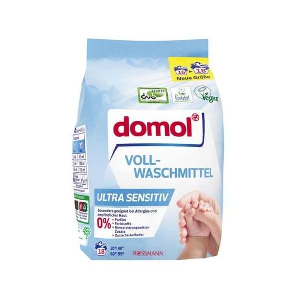 domol Vollwaschmittel Ultra Sensitiv, 18 WL 0.17 EUR/1 WL