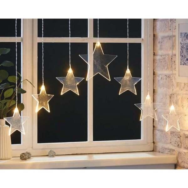 LED-Sternenvorhang mit 7 LEDs