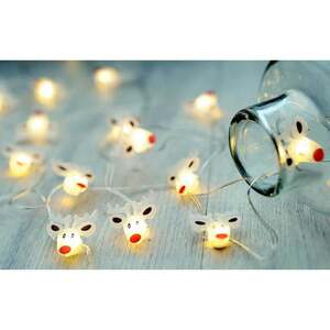 Micro-LED-Drahtlichterkette Rentiere mit 20 LEDs