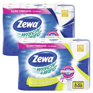 Zewa Wisch & Weg Küchenrollen 8 x 45 Blatt, versch. Sorten, jede Packung