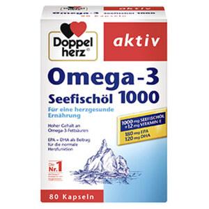 Doppelherz Omega-3 Seefischöl 1000 Kapseln jede 80er-Packung