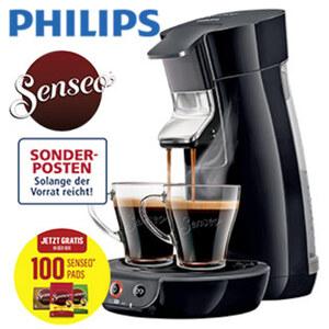 Kaffee-Padautomat Viva Café HD 6561/67 · frisch gebrühter Kaffee in weniger als 60 sec · Crema Plus: für eine feine, samtige Crema