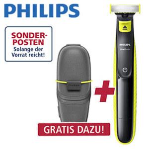 Bartschneider OneBlade QP2520/65 · Trocken- oder Nassrasur · 3 Trimmeraufsätze für 3 Längeneinstellungen: 1 - 3 - 5 mm · ca. 45 min Rasierdauer