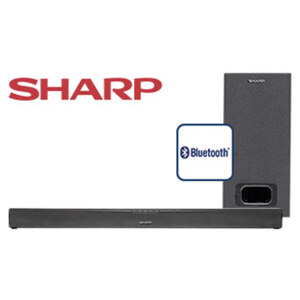 2.1-Bluetooth®-Soundbar HT-SBW110 mit Subwoofer • 60 Watt RMS • optischer Audio-Eingang, Aux-/HDMI-Anschluss • Maße Soundbar: H 6 x B 80 x T 6 cm • Maße Subwoofer: H 22 x B 15 x T 32 cm