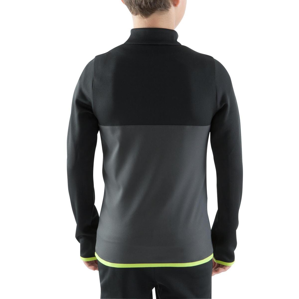 Bild 4 von Sweatshirt Fußball T500 Kinder schwarz/neongelb