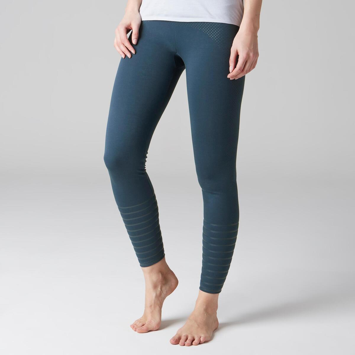 Bild 2 von Leggings 900 Slim Gym Stretching & Pilates Damen blau