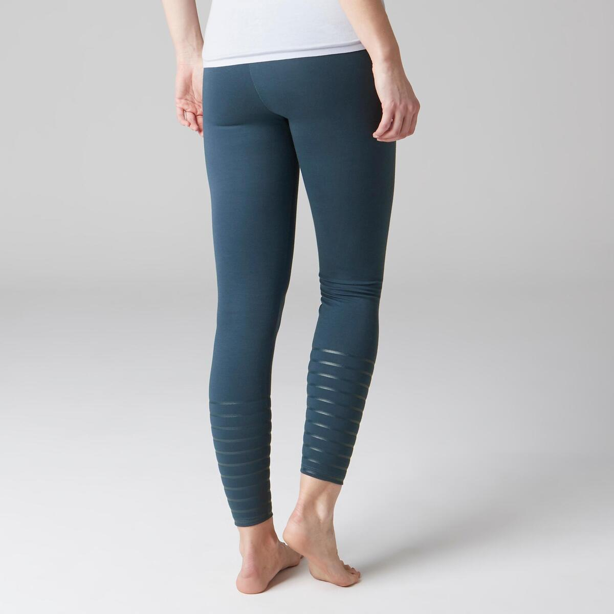 Bild 3 von Leggings 900 Slim Gym Stretching & Pilates Damen blau