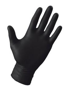 Multitec Latex-Einmalhandschuhe, Schwarz, Größe L - 100er Set