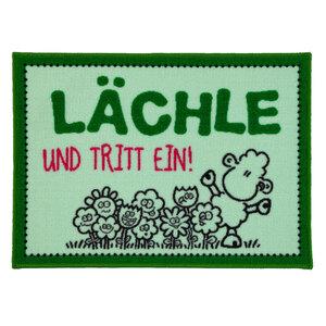 """Sheepworld Fußmatte - """"Lächle und tritt ein"""", ca. 50 x 70 cm"""