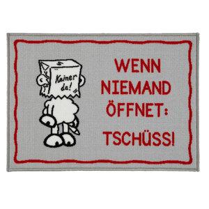 """Sheepworld Fußmatte - """"Wenn niemand öffnet: Tschüss!"""", ca. 50 x 70 cm"""