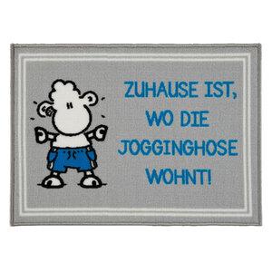 """Sheepworld Fußmatte - """"Zuhause ist wo die Jogginghose wohnt!"""", ca. 50 x 70 cm"""