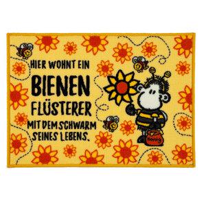 """Sheepworld Fußmatte - """"Hier wohnt ein Bienen Flüsterer"""", ca. 50 x 70 cm"""