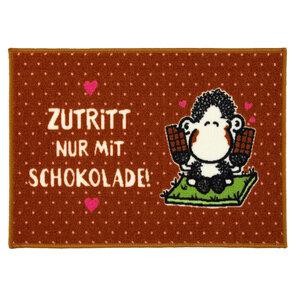 """Sheepworld Fußmatte - """"Zutritt nur mit Schokolade!"""", ca. 50 x 70 cm"""
