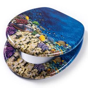badkomfort Design-WC-Sitz mit Absenkautomatik, Korallenriff