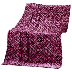 Dreamtex Kaschmir-Touch Decke, ca. 150 x 200 cm - Blume Lila