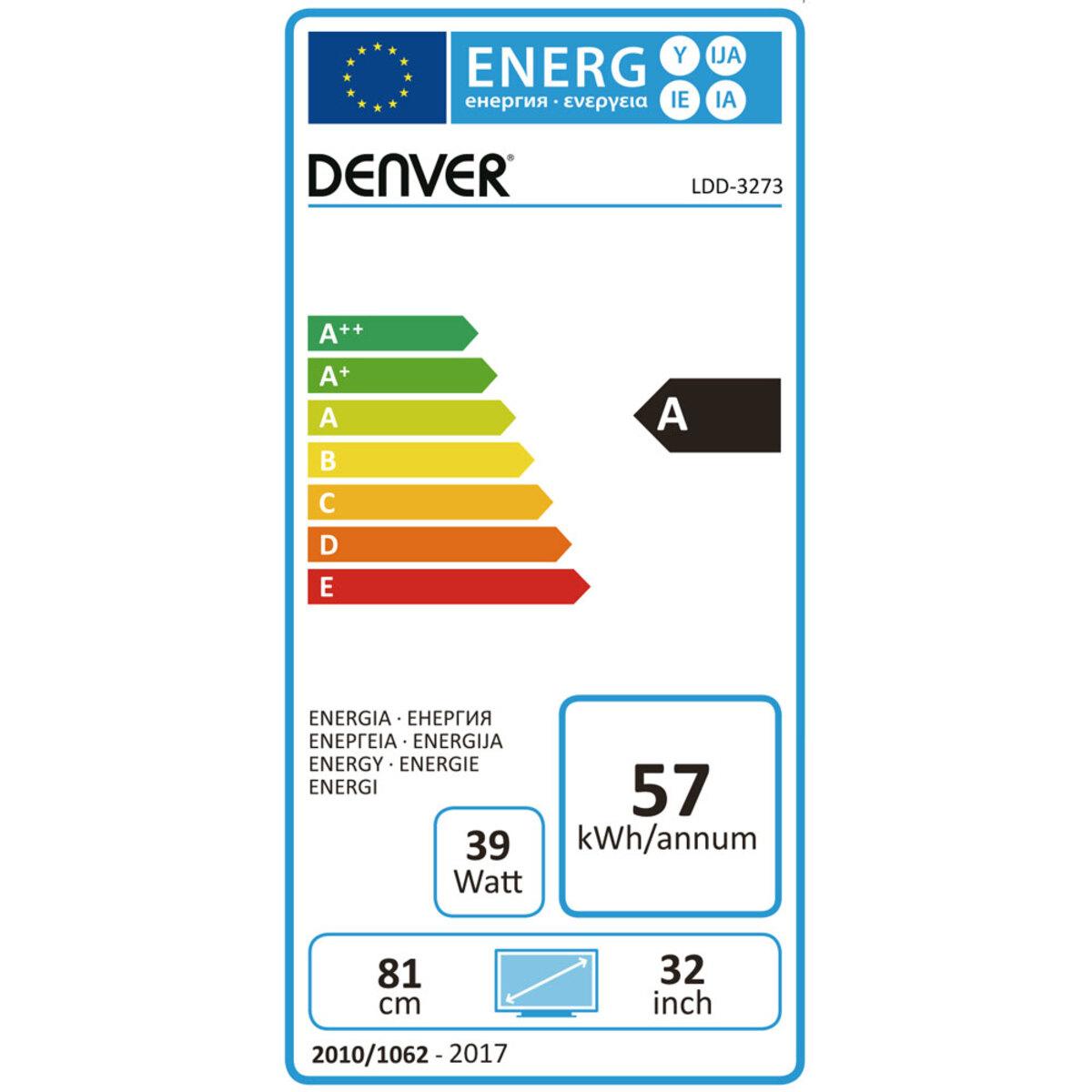 """Bild 2 von Denver 32"""" HD-LED-TV mit integriertem DVD-Player"""
