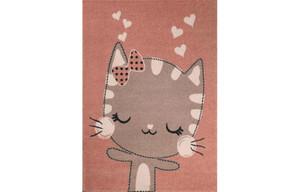 Teppich Bino ca. 120 x 170 cm Katze pink