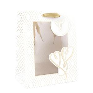 Geschenktasche M White love 24 x 19,5 x 11cm