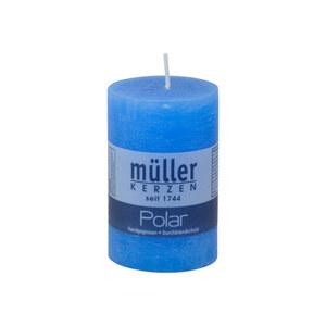 Polar Stumpenkerze 90/58 mm in blau
