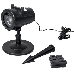 LED Projektor aus Kunststoff in schwarz mit 6 Motiven