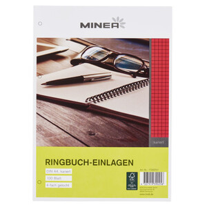 Minea Ringbucheinlagen kariert DIN A4