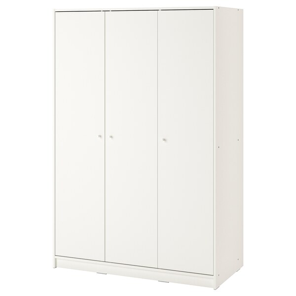 KLEPPSTAD                                Kleiderschrank mit 3 Türen, weiß, 117x176 cm