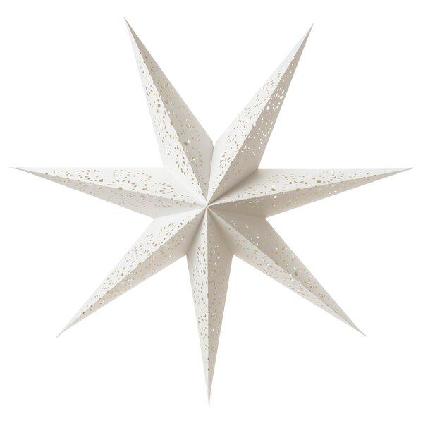 IKEA STRALA Hängeleuchtenschirm Spitze weiß Stern Lampenschirm 100cm Weihnachten