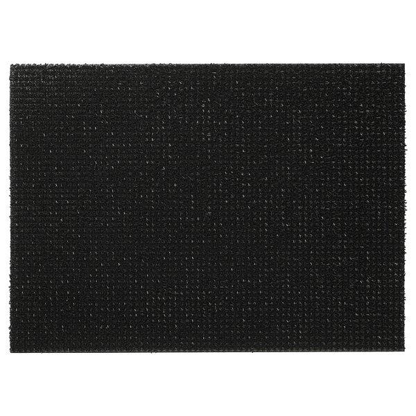 YDBY                                Fußmatte, schwarz drinnen/draußen schwarz, 58x79 cm