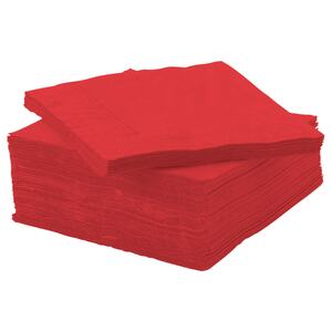 FANTASTISK                                Papierserviette, rot, 24x24 cm