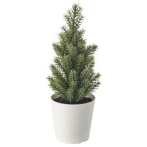 VINTERFEST                                Topfpflanze, künstlich/mit Topf, Weihnachtsbaum, 6 cm
