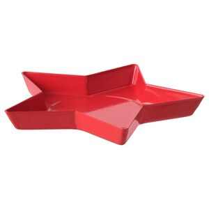 VINTERFEST                                Kerzen-/Dekoschale, Stern, rot, 15 cm