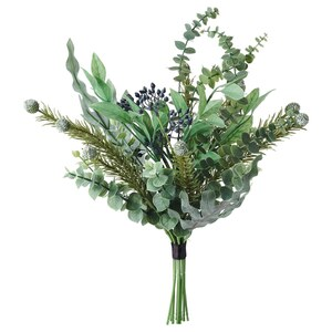 VINTERFEST                                Kunstblumenstrauß, grün, 50 cm