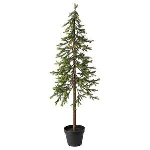 VINTERFEST                                Topfpflanze, künstlich, drinnen/draußen Weihnachtsbaum, Fichte, 12 cm