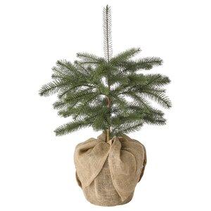 VINTERFEST                                Topfpflanze, künstlich, drinnen/draußen Weihnachtsbaum, 24 cm