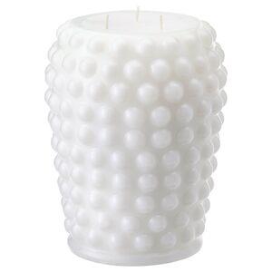 FRAMBRINGA                                Blockkerze 3 Dochte, duftneutral, weiß, 19 cm