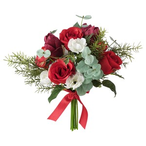 VINTERFEST                                Kunstblumenstrauß, rot, 34 cm