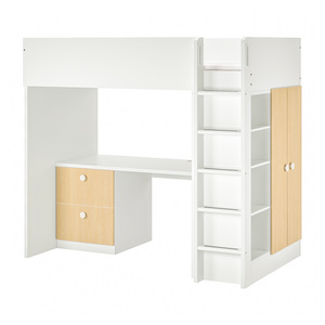 STUVA / FÖLJA                                Hochbettkomb. 2 Schubl./2 Türen, weiß, Birke, 207x99x182 cm