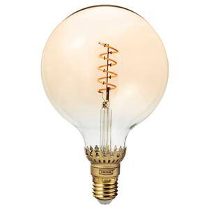 ROLLSBO                                LED-Leuchtmittel E27 300 lm, dimmbar, rund Klarglas braun, 125 mm