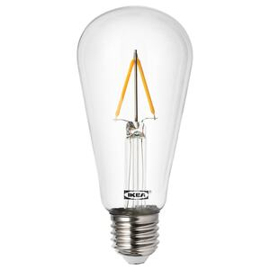 LUNNOM                                LED-Leuchtmittel E27 100 lm, tropfenförmig klar