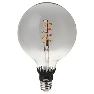 ROLLSBO                                LED-Leuchtmittel E27 200 lm, dimmbar, rund Klarglas grau, 125 mm