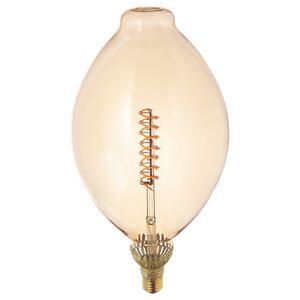 ROLLSBO                                LED-Leuchtmittel E27 400 lm, dimmbar, ballonförmig Klarglas braun, 180 mm