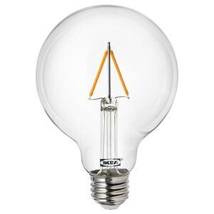 LUNNOM                                LED-Leuchtmittel E27 100 lm, rund klar, 95 mm