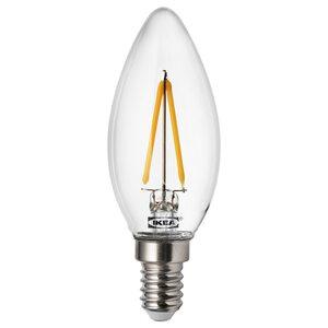 RYET                                LED-Leuchtmittel E14 200 lm, kerzenförmig, klar