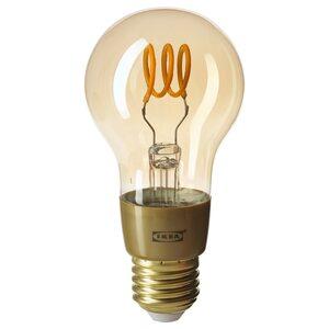 TRÅDFRI                                LED-Leuchtmittel E27 250 lm, kabellos dimmbar behaglich warmweiß, rund Klarglas braun