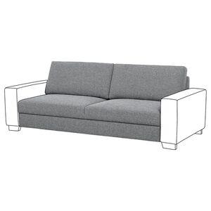 SÖRVALLEN                                Sitzelement 3, Lejde grau/schwarz