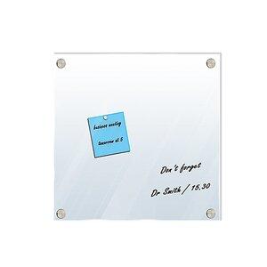 Magnettafel - grau - weiß - Glas - beschreibbar - 40x40 cm