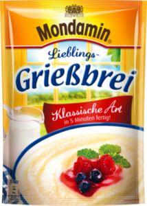 Mondamin Grießbrei Süße Gerichte für 500 ml Milch