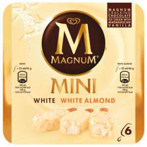 Langnese Magnum Mini White Mix 6x55ml